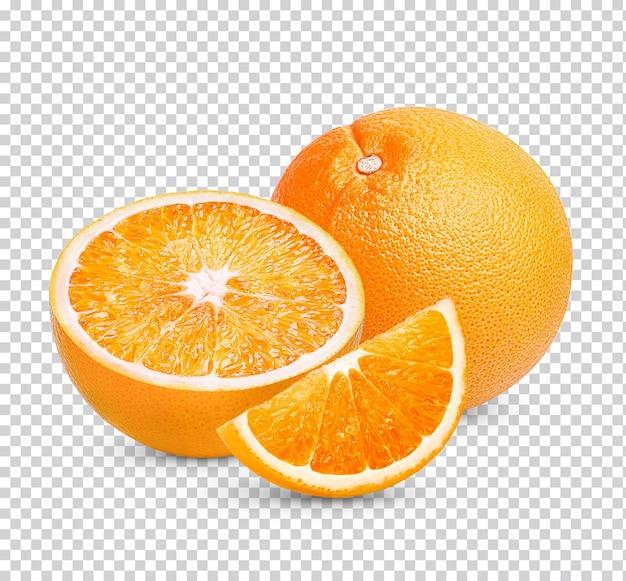 Pomarańczowy na białym tle
