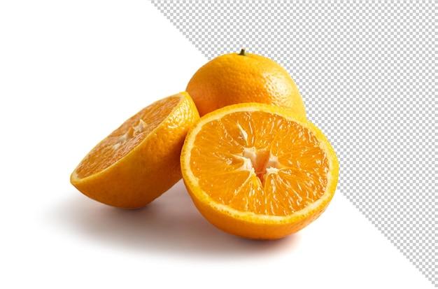 Pomarańczowy wyizolowany z tła
