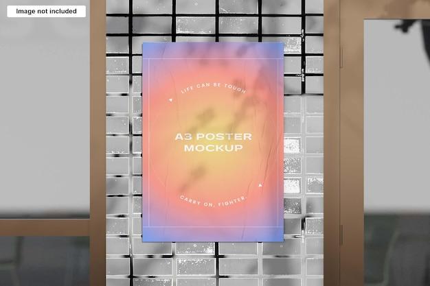 Pomarszczony makieta plakatu a3