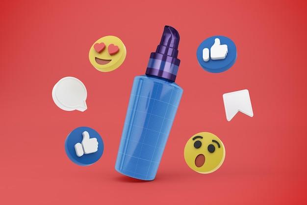 Pompuj Media Społecznościowe Premium Psd