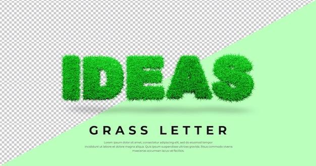 Pomysły list tekstowy z 3d trawą