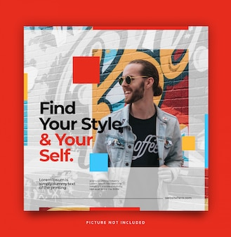 Pop up modern dynamic instagram post feed template