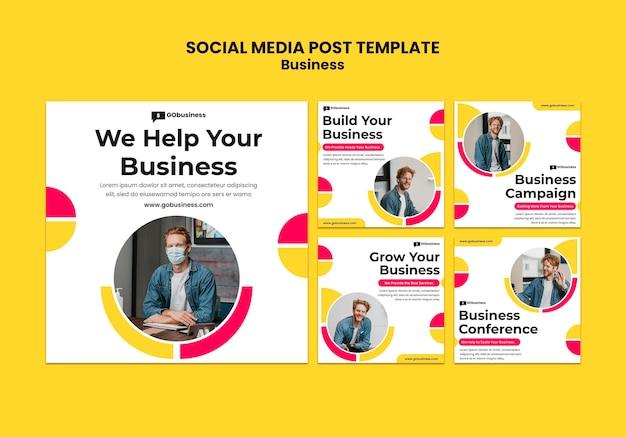 Porady biznesowe w mediach społecznościowych publikują tempalte
