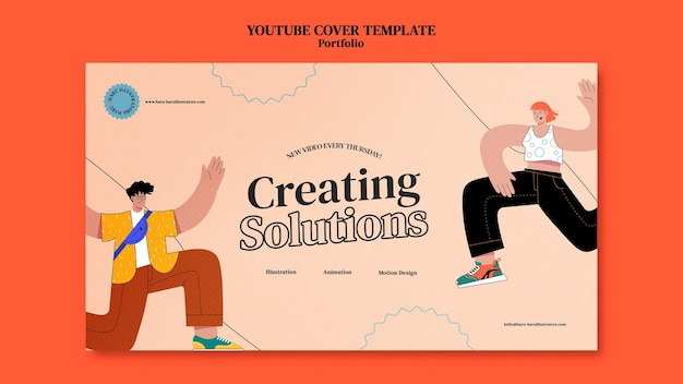 Portfolio szablon projektu okładki youtube