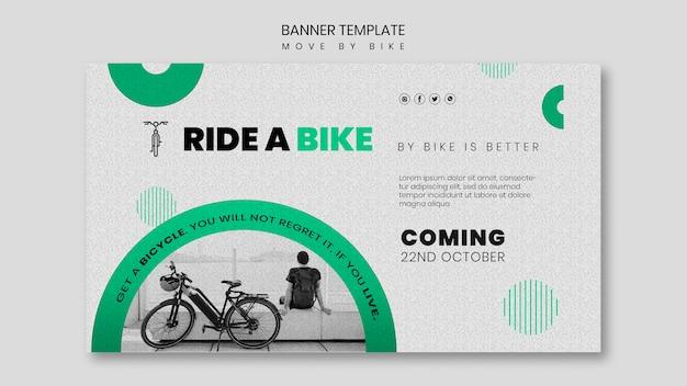 Poruszaj się motywem banera rowerowego