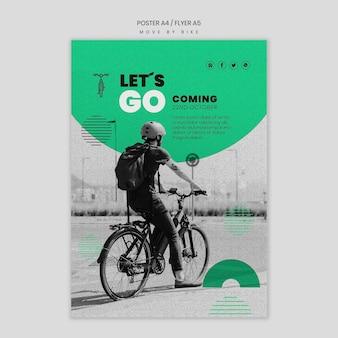 Poruszaj się motywem plakatu rowerowego