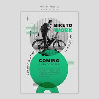 Poruszaj się stylem plakatu na rowerze