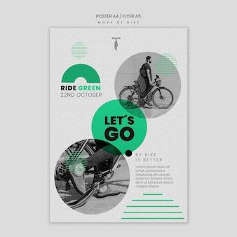Poruszaj się ulotką rowerową