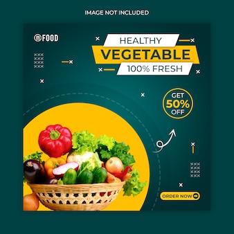 Post lub szablon banera z warzywami w mediach społecznościowych