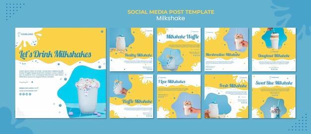 Post milkshake w mediach społecznościowych