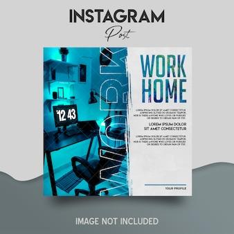 Post na instagramie w mediach społecznościowych