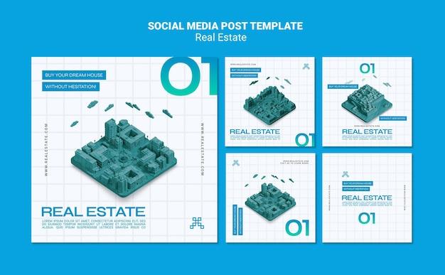 Post w mediach społecznościowych dotyczących nieruchomości
