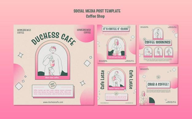 Post w mediach społecznościowych kawiarni