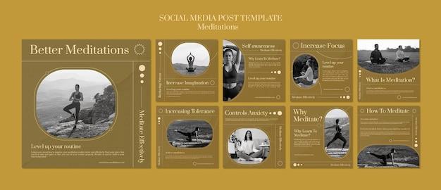Post w mediach społecznościowych mindfulness