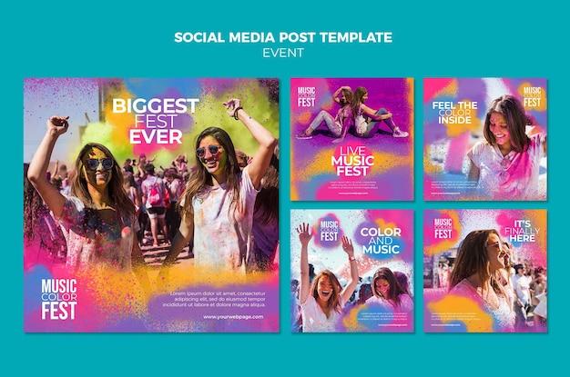 Post w mediach społecznościowych na festiwalu muzycznym