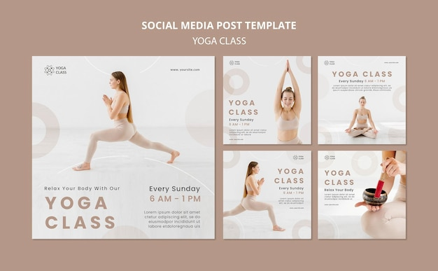 Post w mediach społecznościowych na zajęciach jogi