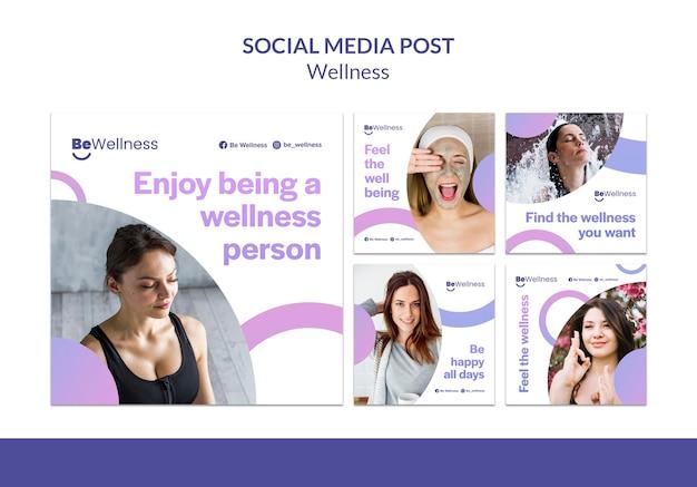 Post w mediach społecznościowych osoby wellness wellness
