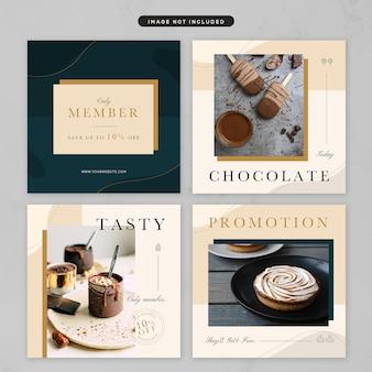 Post w mediach społecznościowych w temacie luksusowej kuchni