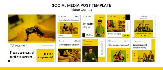 Post z gry wideo w mediach społecznościowych