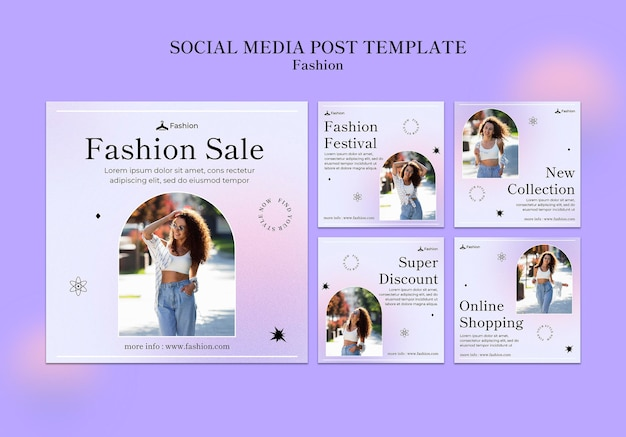 Posty na instagramie dotyczące mody i stylu