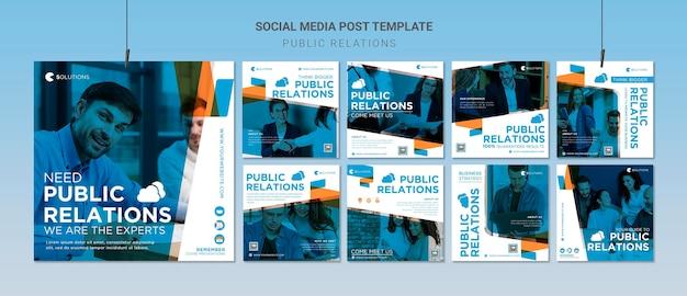Posty na instagramie dotyczące public relations