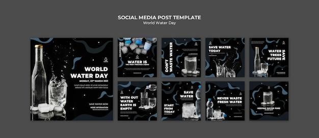 Posty na instagramie dotyczące światowego dnia wody