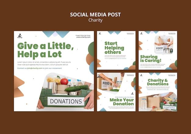 Posty na instagramie o działalności charytatywnej