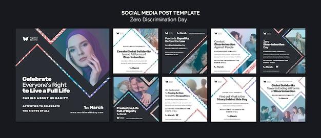 Posty na instagramie w dniu wydarzenia zero dyskryminacji