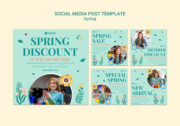 Posty na instagramie z wiosenną wyprzedażą