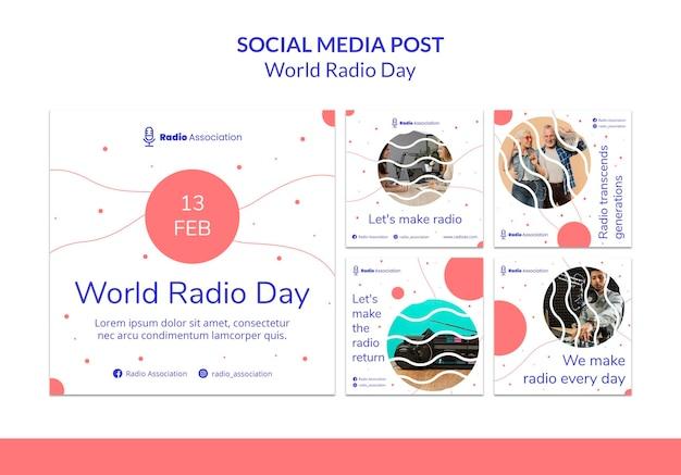 Posty w mediach społecznościowych na światowy dzień radia