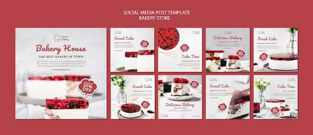 Posty w mediach społecznościowych o piekarni