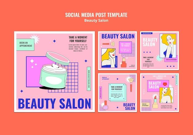 Posty w mediach społecznościowych w stylu pop art pop