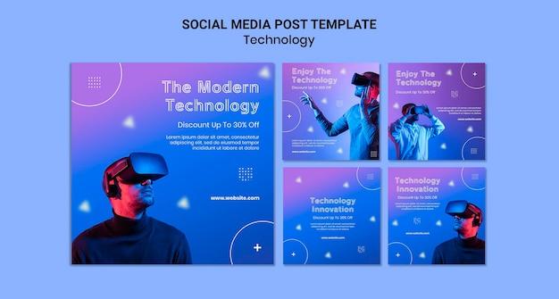 Posty w mediach społecznościowych w wirtualnej rzeczywistości