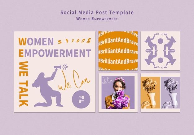 Posty w mediach społecznościowych wzmacniające pozycję kobiet