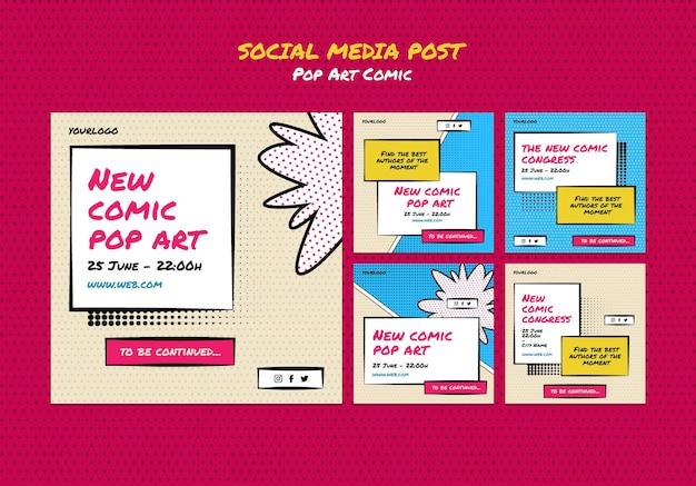 Posty w mediach społecznościowych z kongresu komiksowego