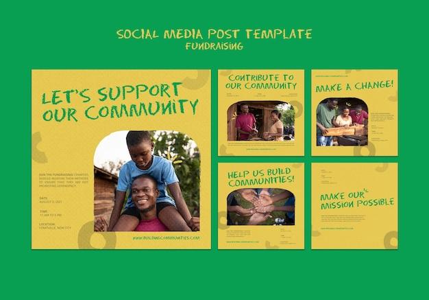 Posty w mediach społecznościowych