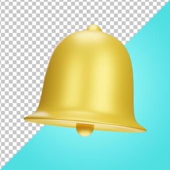 Powiadomienie dzwonkiem ikony 3d