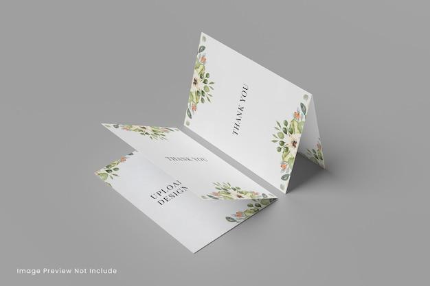 Powitanie makieta karty ślubnej inwitacji