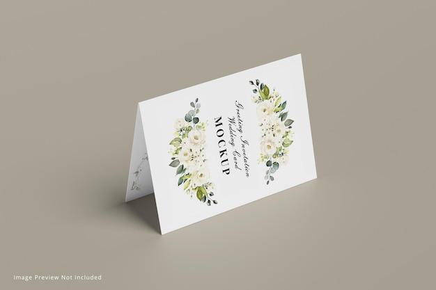 Powitanie makieta karty ślubnej zaproszenia