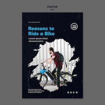 Powody, dla których warto jeździć na plakacie szablonu roweru