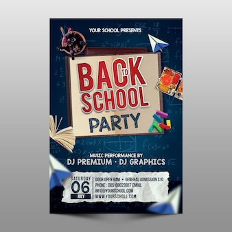 Powrót do szablonu flyer school party
