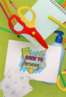 Powrót do szkolnej makiety materiałów piśmiennych