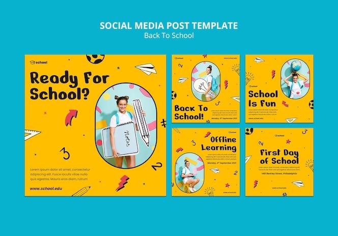 Powrót do szkolnych postów w mediach społecznościowych