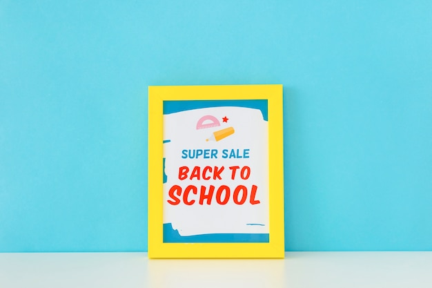 Powrót do szkoły super sprzedaż banner projektu