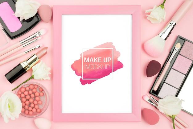 Powyższy asortyment produktów do makijażu