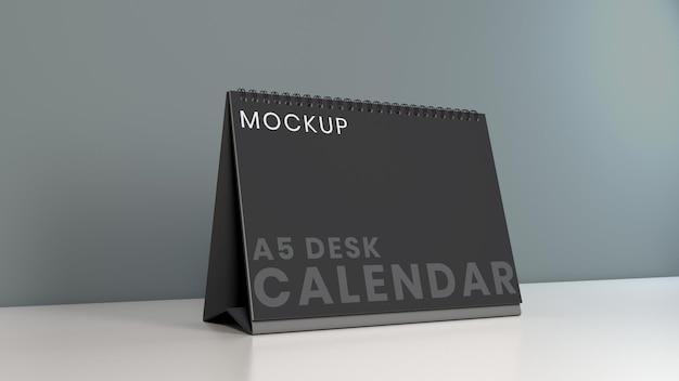 Pozioma makieta kalendarza na biurko