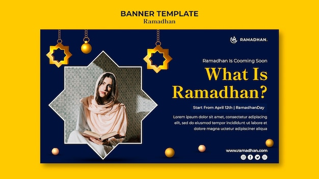 Poziome baner obchody ramadanu