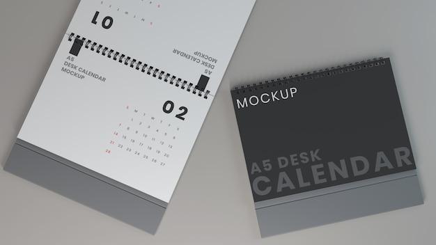 Poziome makiety kalendarza na biurko