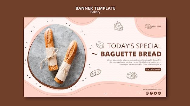 Poziomy baner dla biznesu piekarni