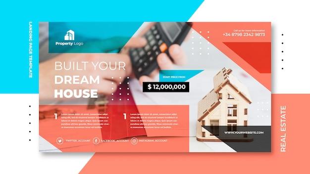 Poziomy baner dla firmy z branży nieruchomości